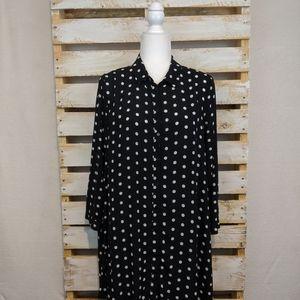 ZARA WOMAN  black and white polkadot tunic